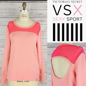 Victoria's Secret VSX Sport cutout net sweatshirt